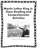 Martin Luther King Jr. Close Reading and Comprehension Activities