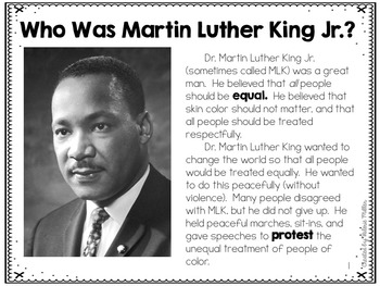 Martin Luther King Jr. Close Reading and Writing Unit with Text Features