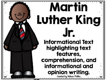 Martin Luther King Jr. Close Reading and Writing Unit with