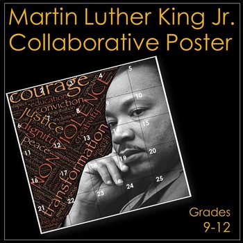 Martin Luther King Jr. Collaborative Classroom Poster/Bulletin Board Display