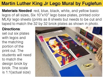 Martin Luther King Jr Collaborative Lego Mural Lesson