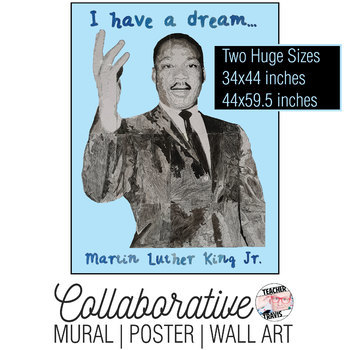 Martin Luther King Jr Collaborative Mural | Poster | Huge Wall Art