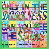Martin Luther King Jr. - Collaborative, Ready-To-Color, 42-Piece Art Poster