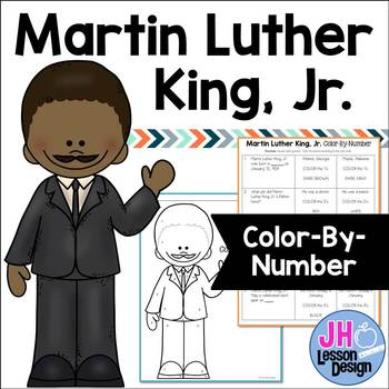 Martin Luther King Jr: Color-By-Number