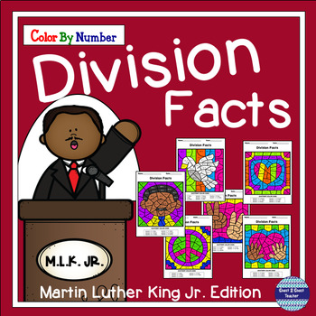 Martin Luther King Jr. Color By Number Division