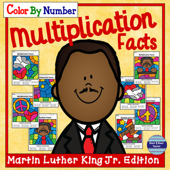 Martin Luther King Jr. Color By Number Multiplication