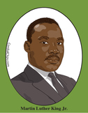 Martin Luther King Jr. Color Clip Art or Mini Poster