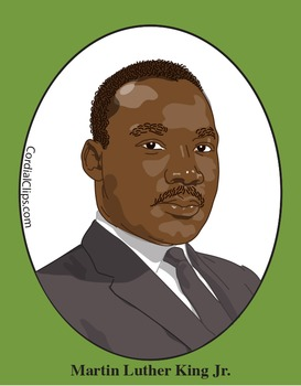 martin luther king jr color clip art or mini poster by cordial clips