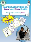 Martin Luther King Jr. Color and Draw Pages -  Coloring and Drawing Activity
