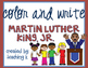 Martin Luther King, Jr. Color and Write Activity