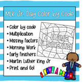Martin Luther King Jr. Color by Code - Multiplication