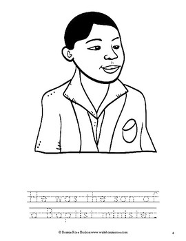 Martin Luther King, Jr. Coloring Book —Level B