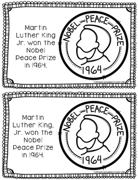 Martin Luther King, Jr. Coloring Book and Reading Comprehension Sheet