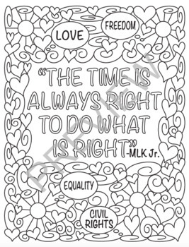 Black History Month MLK Jr. Coloring Page!