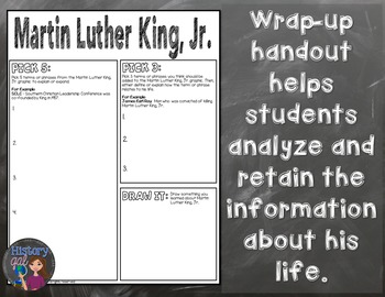 Martin Luther King, Jr. Coloring Page and Word Cloud Activity
