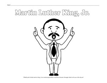 Martin Luther King, Jr. Coloring Pages