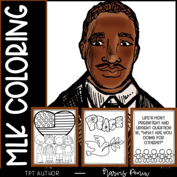 Martin Luther King Jr Coloring Pages Mlk By Under Kidstruction