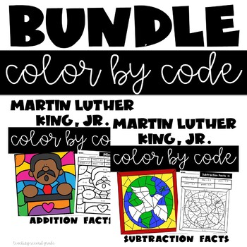 Martin Luther King Jr. Coloring Pages with Addition and Subtraction Facts