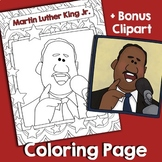 Martin Luther King Jr. Coloring and Clipart