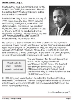 Martin Luther King Jr. (Common Core)