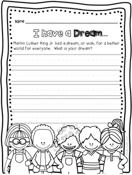 Martin Luther King Jr. Reading & Writing  Activities, Close Reading Response