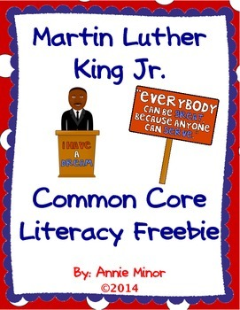 Martin Luther King Jr. Common Core Literacy Freebie