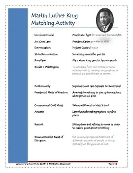 Martin Luther King Jr. Complete Activity Packet