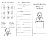 Martin Luther King Jr. Comprehension Trifold - FREEBIE
