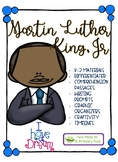 Martin Luther King, Jr. Comprehension questions and activity pack