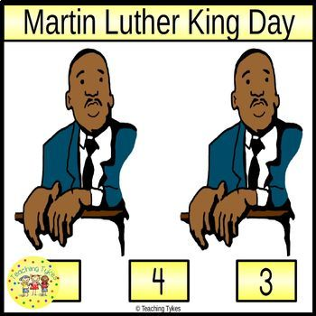 Martin Luther King Count and Clip Holiday Task Cards