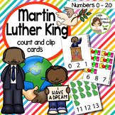 Martin Luther King Jr. Count and Clip cards (Numbers 0-20) plus worksheets