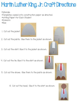 Martin Luther King, Jr. Craft and Writing Activity