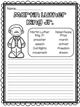Martin Luther King Jr. Craftivity