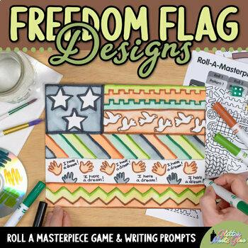 Martin Luther King Jr. Craftivity | Design a Freedom Flag, Black History Month