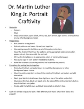 Martin Luther King Jr. Craftivity and Poem