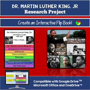 Martin Luther King Jr. Activity: Create a Research-Based Interactive Flip Book!