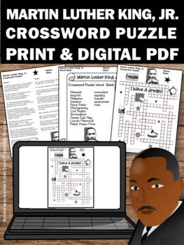 black history month crossword puzzle martin luther king jr activities. Black Bedroom Furniture Sets. Home Design Ideas