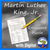 Martin Luther King Jr. MLK Day Black History Crossword Puzzle w/ Digital