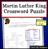 Martin Luther King Jr. Crossword Puzzle for Black History Month