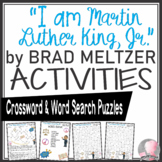 """""""I Am Martin Luther King Jr."""" Activities Meltzer Book Crossword & Word Searches"""
