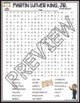 Martin Luther King Jr Activities Crossword Puzzle and Word Search Find