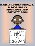 Martin Luther King, Jr. & Rosa Parks Biography and Activity Pack