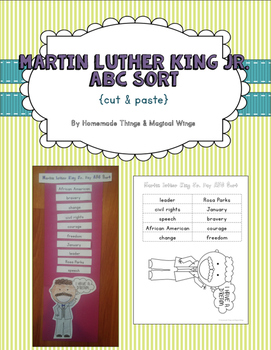 Martin Luther King Jr. ABC sort {cut & paste}