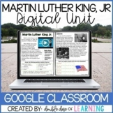 Martin Luther King Jr DIGITAL Distance Learning Unit for GOOGLE Classroom