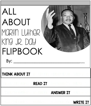 Martin Luther King Jr. Day Reading Passage and Flipbook