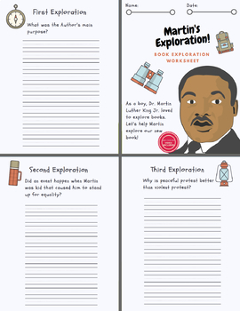 Martin Luther King Jr. Day 5 Part Learning Kit (5 Lit. Centers)