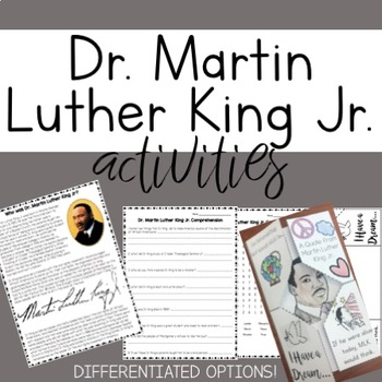 Martin Luther King Jr. Day Activities!