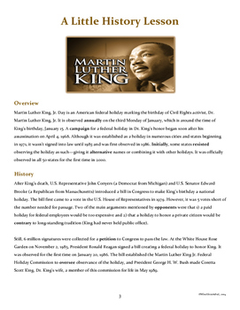 Martin Luther King, Jr. Day Activities
