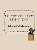 Martin Luther King Jr. Day Adapted Worksheets
