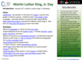 Martin Luther King, Jr. Day CLIP (Creative Learning in a Pinch)